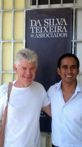 Andrew Mahar AM and Sahe Da Silva outside the Da Silva Teixeira & Associados office in Dili